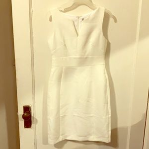 Banana Republic Sleeveless White Sheath Dress
